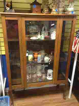 Early Tiger Oak Cabinet 60inchx42inchx15inch No