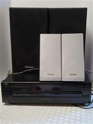 JVC CD Player & Panasonic Speakers Work