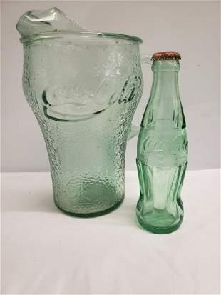 Vintage Coca-Cola pitcher and bottle