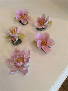 Herend and Capodimonte Flowers (all have chips as