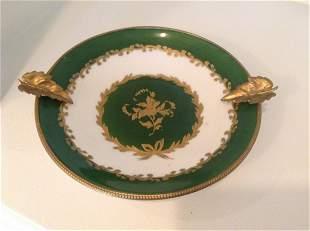 """Signed Limoges Gold Leaf Dish 6.5"""" wide"""
