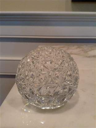 """Signed Waterford Crystal Times Square ball 3"""" tall"""