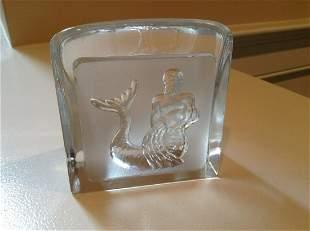 Signed Nybro Sweden Design Paul Isling Crystal