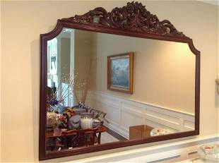"""Ornate Hand Carved Solid Wood Mirror 64""""x50"""""""