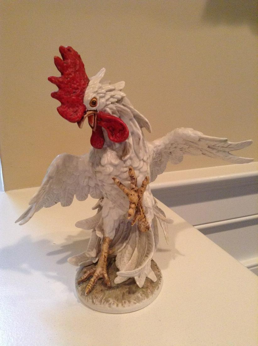 "Signed Goebel Hummelwerk Fighting Rooster 8.5"" tall"