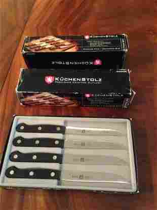 Three boxes of KuchenStolz Steak Knives New in package