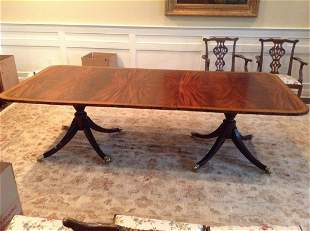 """Maitland-Smith Hand Carved Claw Foot Table 101"""" Plus"""