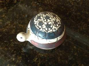 Pottery Turtle Signed by the Artist Lisa L Gustavsberg