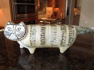 """Pottery Art Cat 13.5"""" long"""