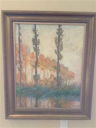 "Claude Monet Reproduction Oil Painting 40""x33"""