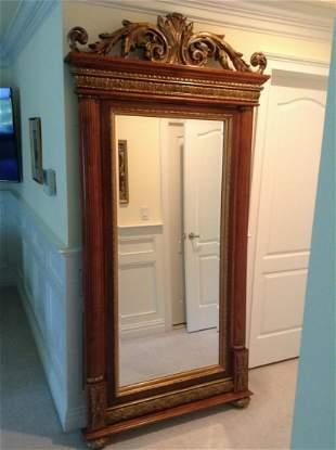 "Ornate Carved Floor Mirror 90""x40"""