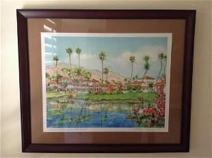 """Original Watercolor of Palm Springs """"Rancho Las Palmas"""""""
