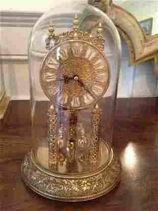 """Kieninger & Obergfell Dome Clock 9"""" tall"""