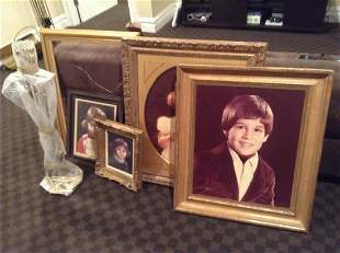 """Vintage Gold Frames Largest 32""""x28"""" and Set of"""