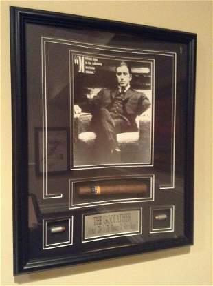 """Framed Godfather Artwork with Cigar & Bullets 18""""x22"""""""