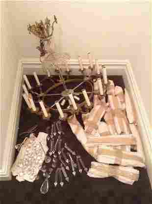 Candleabra Crystal Chandelier complete with Crystals