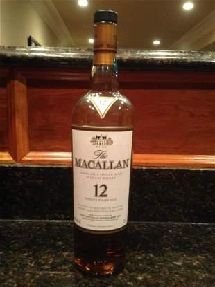 Macallan 12 Year Single Malt Scotch 750ml bottle