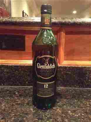 Glenfiddich 12 Year Single Malt Scotch 1L bottle