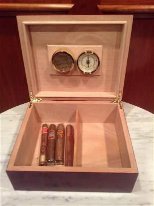 Thompson & Co. Humidor Box with Cigars
