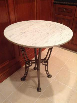 """Marble Top Table 27""""x30"""""""