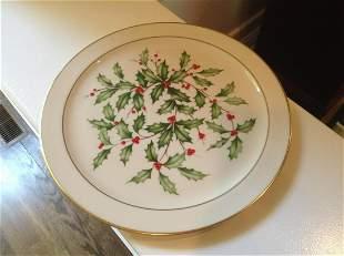"""Lenox Holly Leaf Serving Platter 12.5"""""""