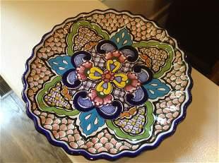 "Handmade in Mexico Serving Platter 12"""
