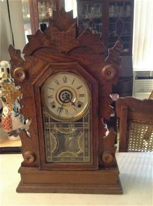 """Hawk W.m. L. Gilbert Clock Co. Clock 22"""" tall"""