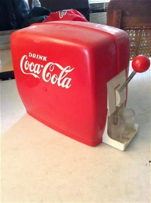 Vintage Coca Cola Soda Dispenser with two small cups
