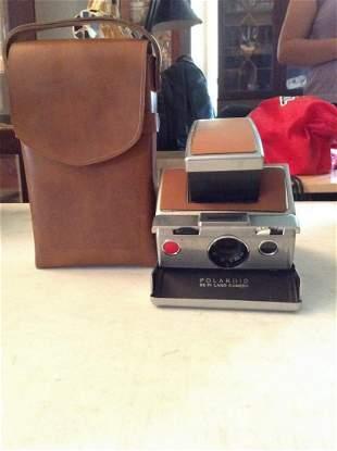 Early Polaroid SX-70 Land Camera and Case
