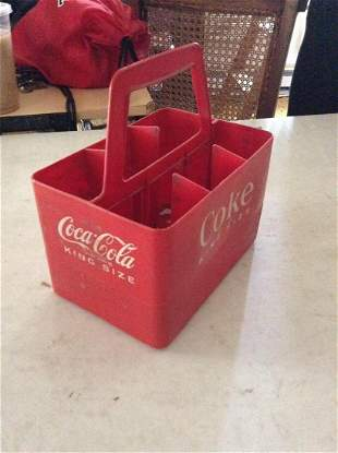 """Coca-Cola King Size Bottle Holder 19"""" tall"""
