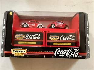 Matchbox Coca Cola 1998 Cars in Box
