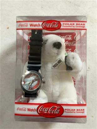 Coca Cola Watch with Polar Bear in Box