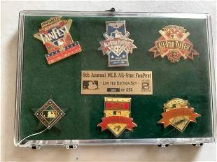 6th Annual MLB All-Star Fanfest Limited Edition Pin Set