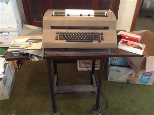 Vintage IBM Typewriter with Stand , Cover, and
