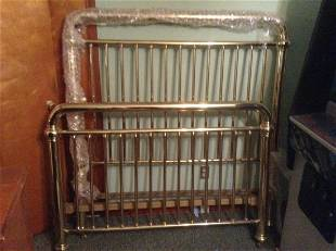 Queen Brass Bed Frame with original springs and Rails
