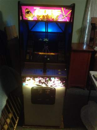 1980 Gorf Full Size Midway Arcade Game with Key -