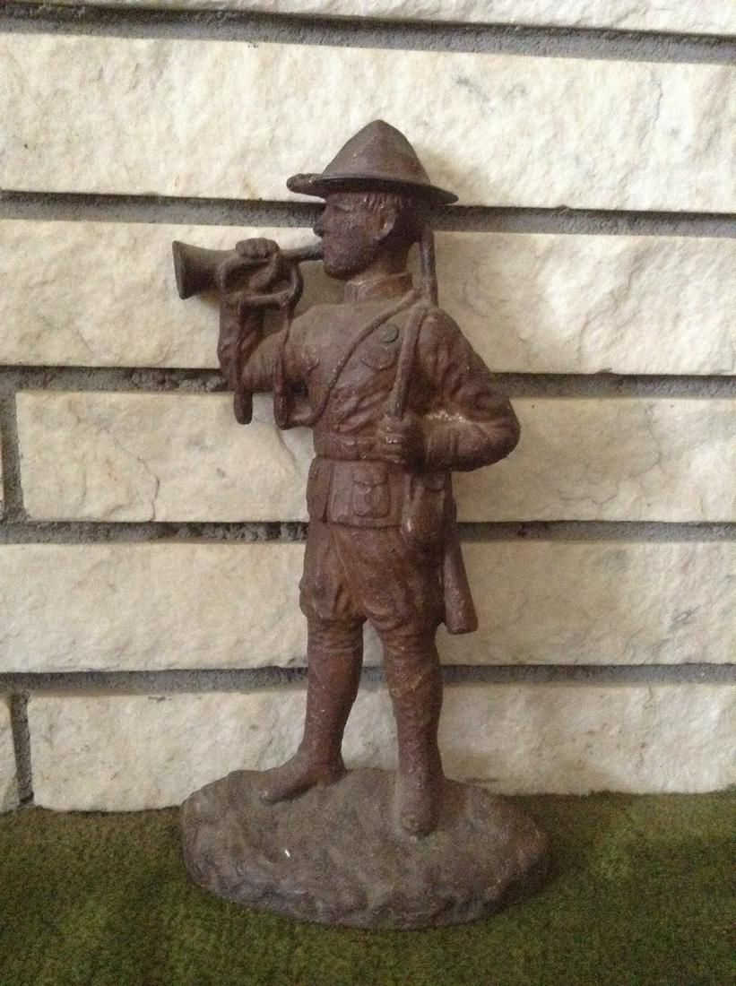 """Cast Iron Soldier Doorstop 12.5"""" tall"""