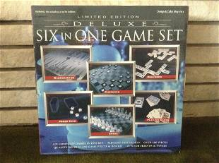 Deluxe Six in One Game Set New in the box