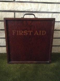 Early Wood First Aid Box with sliding lid