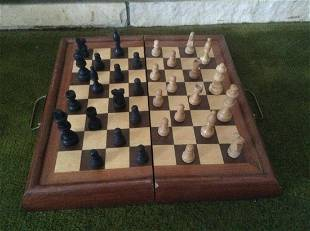 Vintage Chess Game Carry Case