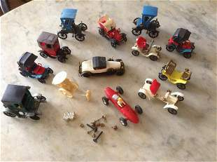 Large lot of vintage Made in France Plastic Cars and