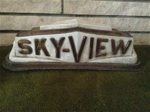 """Early Sky-View Taxi Light 19""""x6""""x5"""""""