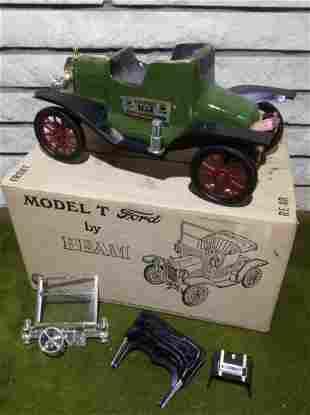 Unbroken Tax Stamp Full Jim Beam Model T Decanter In