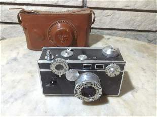 Vintage 50mm Argus Coated Cintar Camera with Leather