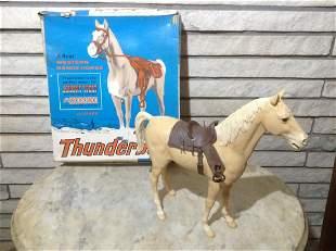 Vintage Marx Thunderbolt Western Horse with original