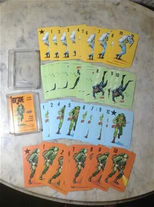 1965 GI Joe Card Game with instruction card and Whitman