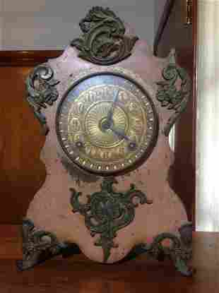 """Cast Iron Ansonia Clock Company NY Patented 1882 13.5"""""""
