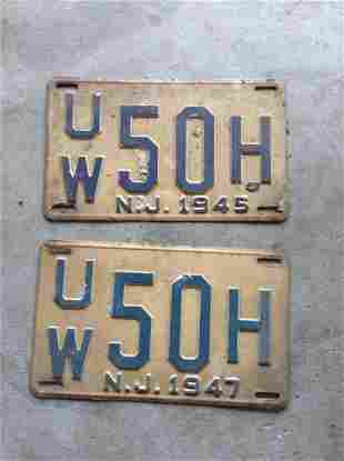 Early license plates