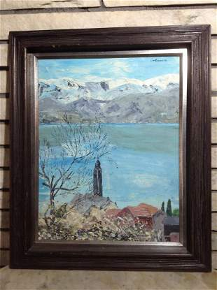 Original Oil on Board signed by the artist J. McDonnell