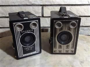 Two Early Eastman Kodak Brownie Cameras